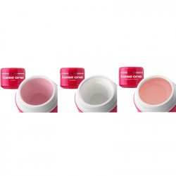 Base One - 3-pack UV-gelé - Clear, Pink, French pink - 15 gram