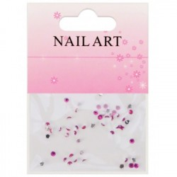 Nageldekorationer - Stenar / Kristaller - Pink